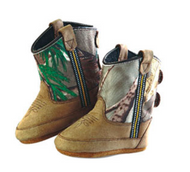 Old West Camo Kid's Cowboy Boots (Infant's sz 0-4)