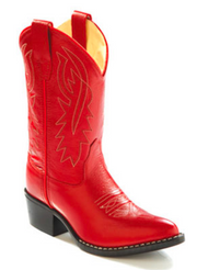 Old West Kid's Red Boots