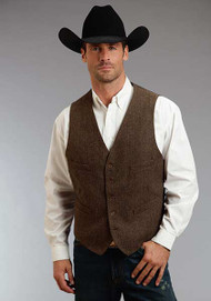 Men's Stetson Brown Western Vest