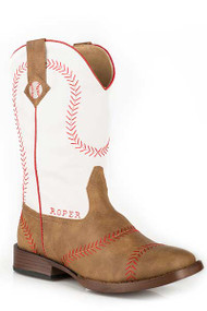 Kid's Roper Baseball Square Toe Boot