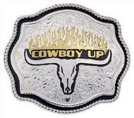 Montana Silversmiths Cowboy Up Buckle