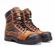 "Royer Agility Ultra-Light Metal Free Waterproof  8"" Brown Safety Boot"