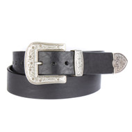 Brave Leather Omes Western Black Belt