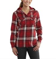 Women's Carhartt Belton Plaid Hooded Shirt