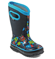 Kid's Bogs Classic Insulated Monsters Dark Blue Rated -34C