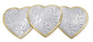 Montana Silversmiths Large Triple Heart Barrette