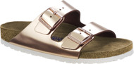 Birkenstock Arizona Metallic Copper Soft Footbed