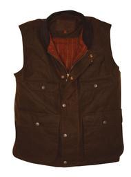 """Outback Trading Men's """"Overlander"""" Oilskin Vest"""