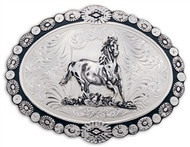 Montana Silversmiths Galloping Horse Berry Buckle