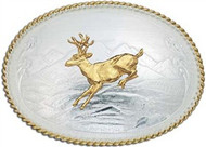 Montana Silversmiths Deer Mountain Scene Buckle