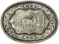 Montana Silversmtihs Antiqued Deer Attitude Buckle