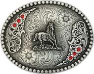 Montana Silversmiths Running Horse Attitude Buckle