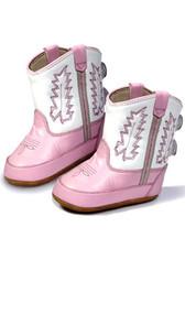 Old West Pink Kid's Cowboy Boots (Infant's sz 0-4)