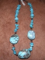 Turquoise Necklace with Three Large Stones