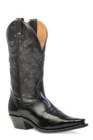 Men's Boulet Black Snip Toe Western Boot