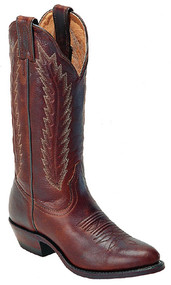 Women's Boulet Dark Brown Medium Cowboy Toe Western Boot