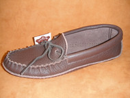 Men's Laurentian Chief Dark Brown Cowhide Moccasin