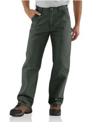Men's Carhartt Washed Duck Work Dungaree Pants
