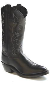 Men's Old West Black Medium Toe Cowboy Boot