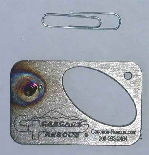 Cascade Rescue Micro Key Chain and Bottle Opener