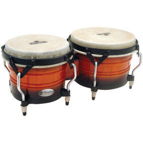 Latin Percussion M301-VSB Matador Custom Wood Bongos, Vintage Sunburst (M301-VSB)