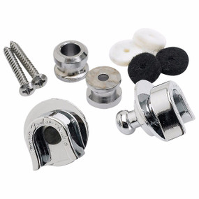 Fender 099-0690-000 Genuine Chrome Strap Locks and Buttons with Hardware (099-0690-000)