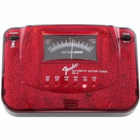 Fender AG-6 Sparkle-Tone Guitar Tuner, Red Sparkle (023-9988-309)
