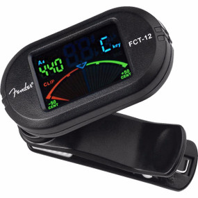 Fender FCT-012 Clip-On Chromatic Color Tuner, 023-9978-100 (FCT-012)