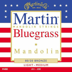 Martin M450 80/20 Bronze Bluegrass Mandolin Strings, Light/Medium (M450)