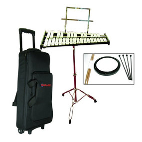 Mirage GPBK1 Bell Kit with Practice Pad and Rolling Case (GPBK1)