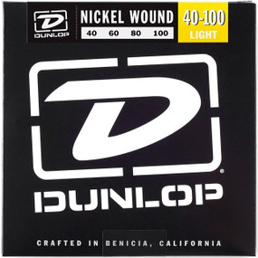 Dunlop DBN40100 Nickel Wound 4-String Electric Bass Guitar Strings, Light