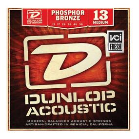 Dunlop DAP1356 Medium Phosphor Bronze Acoustic Guitar Strings, .013-.056 (DAP1356)