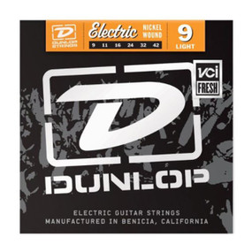 Dunlop DEN0942 Nickel Wound Electric Guitar Strings, Light .009-.042 (DEN0942)