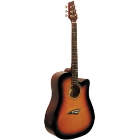 Kona K1 Dreadnought Cutaway Acoustic Guitar, Sunburst (K1SB)