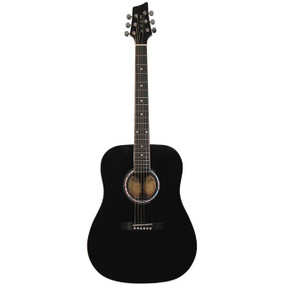 Kona K41 Dreadnought Acoustic Guitar, Black (K41BK)