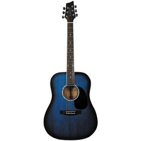 Kona K41 Full Size 6-String Dreadnought Acoustic Guitar, Blue