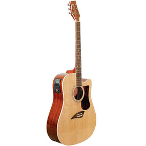 Kona Gold KG1CEN Dreadnought Acoustic Electric Guitar with Solid Spruce Top, Natural