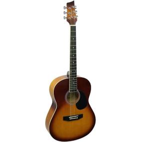 Kona K391 Parlor Size Acoustic Guitar, Honeyburst (K391-HSB)