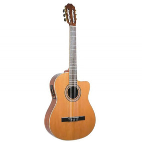 Antonio Hermosa AH-10CE Cutaway Classical Acoustic-Electric Guitar (AH-10CE)