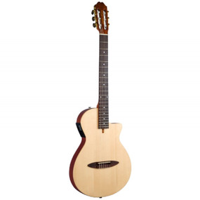 Antonio Hermosa AH-50 Chambered Thinbody Classical Acoustic Electric Guitar, Natural