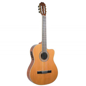 Antonio Hermosa AHT-10CE Thin Body Cutaway Classical Acoustic Electric Guitar (AHT-10CE)