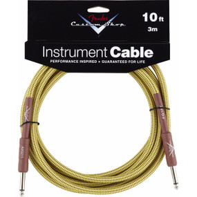 Fender FG10T Custom Shop Performance Series Straight 10' Tweed Guitar Cable, 099-0820-028