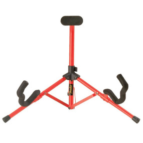 Fender Red Tubular Mini Acoustic and Electric Guitar Stand, 099-1806-000