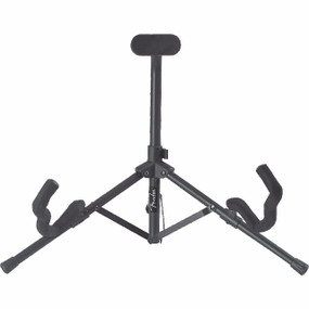 Fender Black Tubular Mini Acoustic and Electric Guitar Stand, 099-1807-000