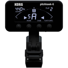 Korg PitchHawk AW-3G-BK Guitar/Bass Clip-On Tuner, Black