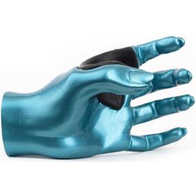 Guitar Grip LHGH122 Left Hand Facing Female Grip Wall Hanger, Lake Placid Blue