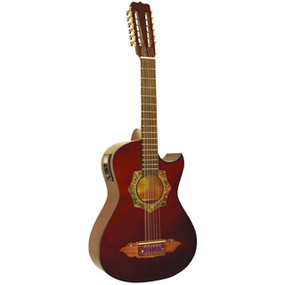 Barraza BZBS101E Mariachi 12-String Bajo Sexto Acoustic Electric Guitar