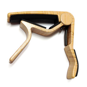 Dunlop 83CM Acoustic Guitar Curved Trigger Capo, Maple