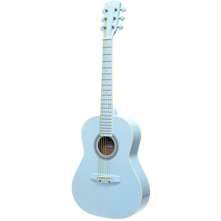 """Darling Divas DDPKG02BL 36"""" Steel String Acoustic Guitar Pack, Powder Blue"""