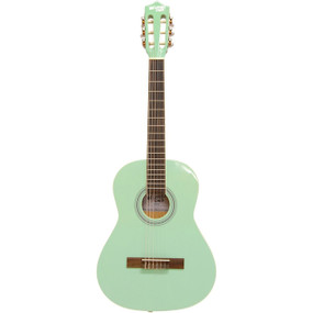 "Darling Divas DDPKG03GR 36"" Nylon String Acoustic Guitar Pack, Surf Green"